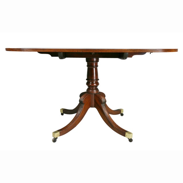 Mahogany Regency Mahogany Two Pedestal Dining Table For Sale - Image 7 of 10