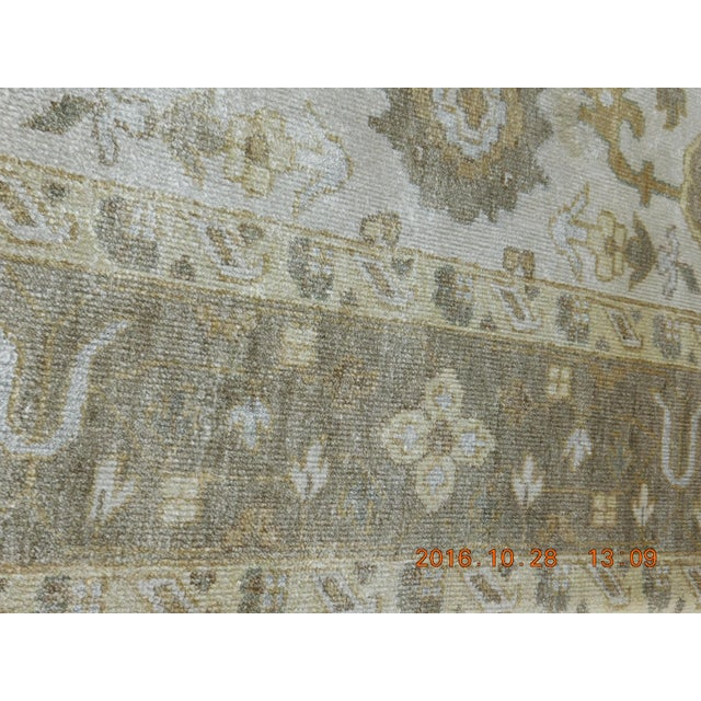 "Hand Knotted Bamboo Silk Indo Ushak Rug -7'10""x 10' For Sale In Los Angeles - Image 6 of 9"