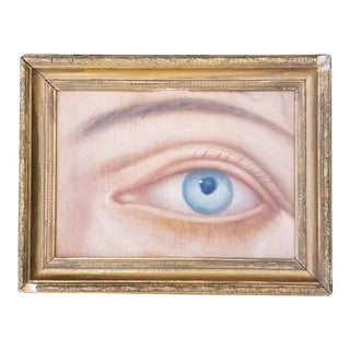 Oil Portrait of Victorian Lovers Eye Pin For Sale