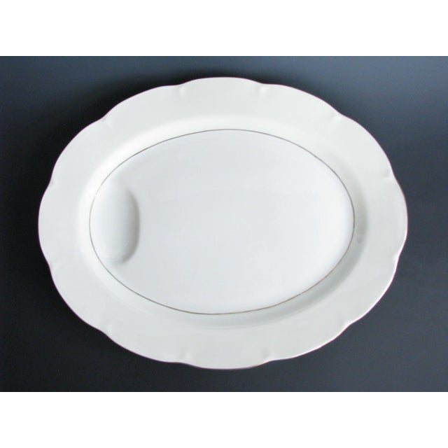 1950s Theodore Haviland New York Leeds Platter and Concord Serving Bowl For Sale - Image 10 of 13