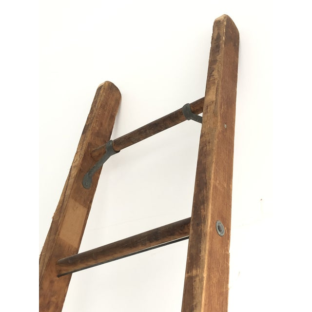 1940s Vintage Mid-Century Working Ladder For Sale - Image 5 of 9
