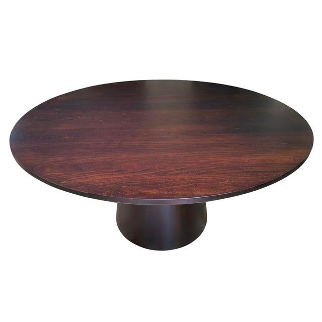 Danish Modern Round Pedestal Dining Table
