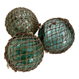 Japanese Fishing Sea Floats - Set of 3 For Sale