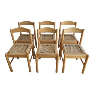 Mid Century Post Modern Dining Chairs - Set of 6 For Sale