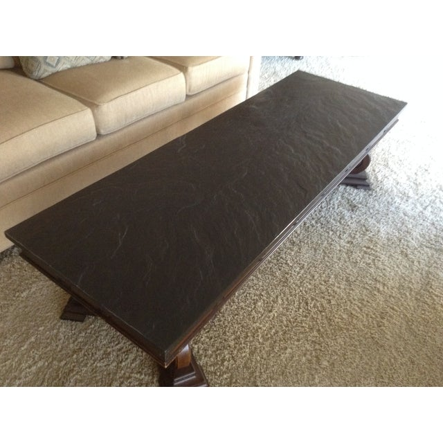 Mid-Century Modern Slate Coffee Table For Sale - Image 3 of 5