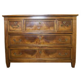 18th Century Louis XVI Style Walnut Pull Out Secretaire Commode