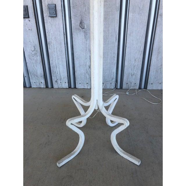 Modern 1980's Plaster Floor Lamp For Sale - Image 3 of 6
