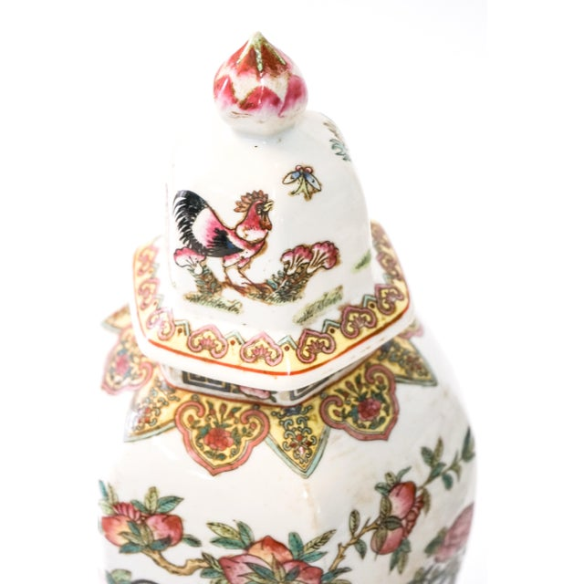 Asian Canton Porcelain Jars, circa 1950 - A Pair For Sale - Image 3 of 8
