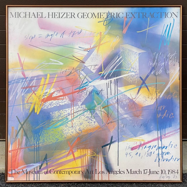 """Michael Heizer """"Geometric Extraction"""" 1984 Gallery Poster For Sale - Image 10 of 10"""