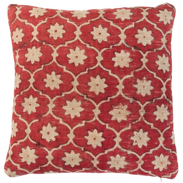 Indian Kalamkari Pillow For Sale