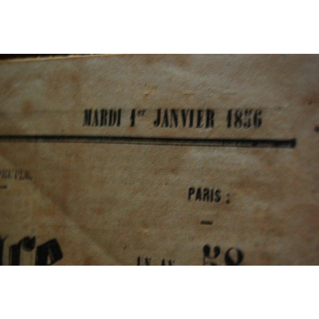 Brown French Gazette on Stand For Sale - Image 8 of 8