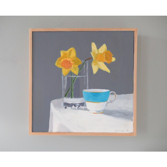 Anne Carrozza Remick Daffodils and a Teacup by Anne Carrozza Remick For Sale - Image 4 of 6