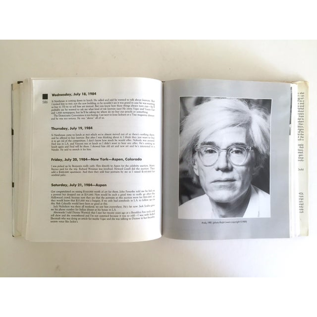 "Vintage 1989 ""The Andy Warhol Diaries"" Rare 1st Edtn Collector Memoirs Book - Image 4 of 11"