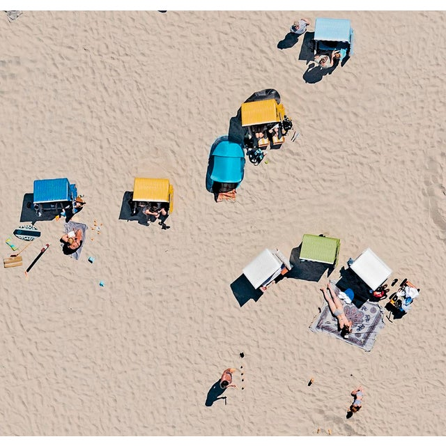 """Contemporary """"EFI_Beachchairs_001"""" Contemporary Limited Edition Fine Art Photograph Print by Bernhard Lang For Sale - Image 3 of 5"""