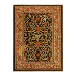 Kafkaz Peshawar Nathalie Brown & Gray Wool Area Rug - 3'2 X 5'0 For Sale
