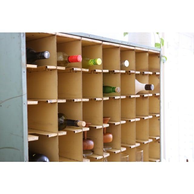 Vintage Industrial Mail Sorter Bar Shelf / Cabinet Desk For Sale In Los Angeles - Image 6 of 7