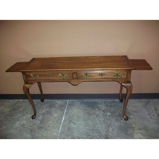 Queen Anne Harden Queen Anne Style Sofa Table Console For Sale - Image 3 of 10