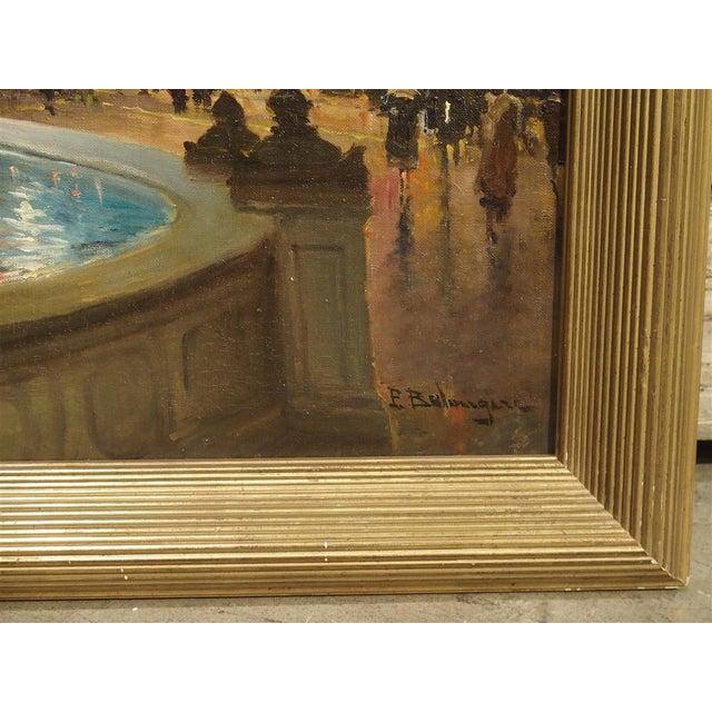 """""""Evening at La Place De La Concorde, Paris"""" Painting by Paul Balmigere (1882-1953) For Sale - Image 11 of 13"""