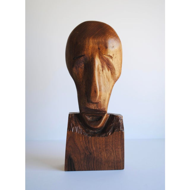 Figurative Mid-Century Wood Sculpture For Sale - Image 3 of 4