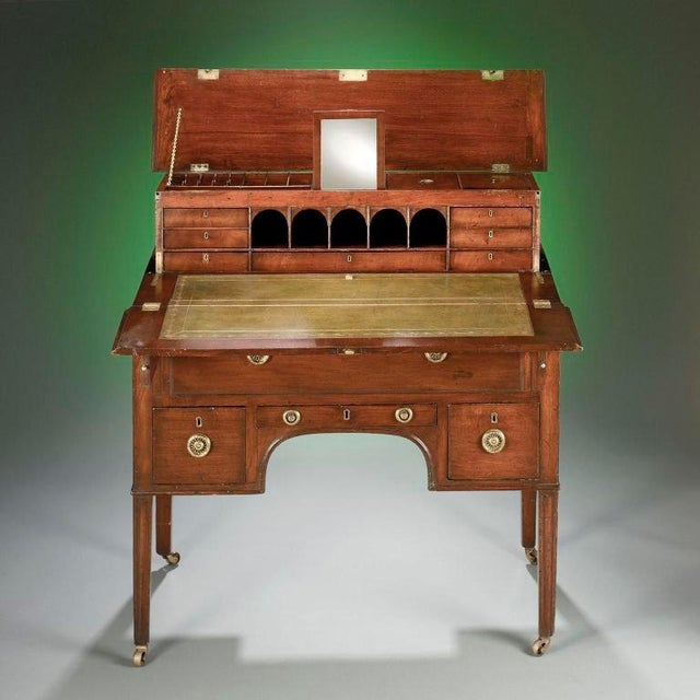 Campaign George III Mahogany Campaign Desk For Sale - Image 3 of 5