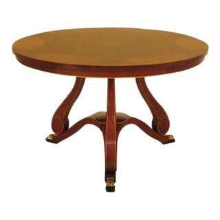 John Widdicomb Russian Classical Round Inlaid Center Table