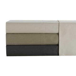 Florence Solid Fitted Sheet King - Limestone For Sale