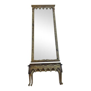 LaBarge French Pier Mirror & Console Table For Sale