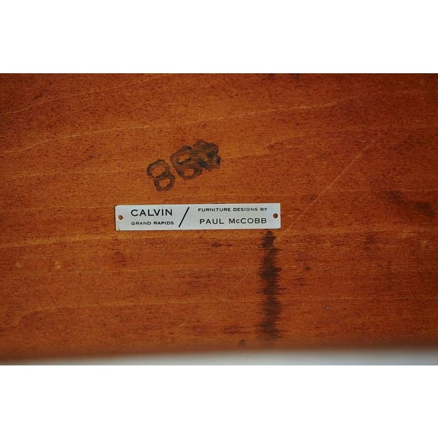 Paul McCobb Walnut and Aluminum Coffee Table for Calvin Furniture For Sale - Image 9 of 9