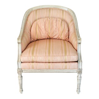 Vintage Pink Upholstered Tub Chair For Sale