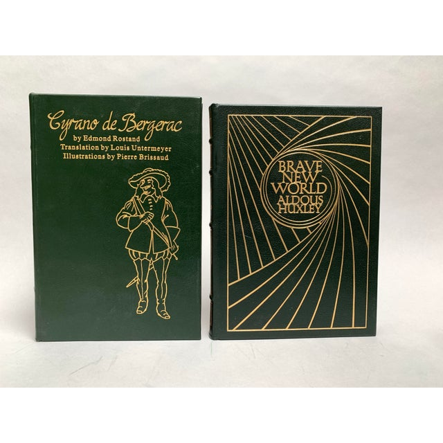 Mid 20th Century Vintage Easton Press Black and Green Leatherbound Classic Books - Set of 5 For Sale - Image 5 of 12
