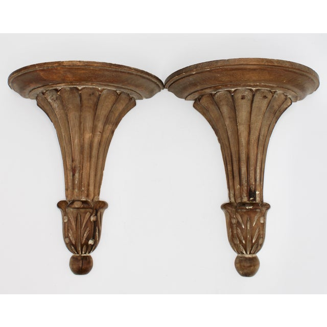 Wood Italian Wooden Wall Shelves - a Pair For Sale - Image 7 of 10