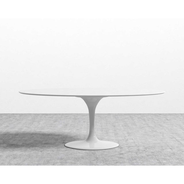 Eero Saarinen Rove Concepts Tulip White Lacquered Table For Sale - Image 12 of 13