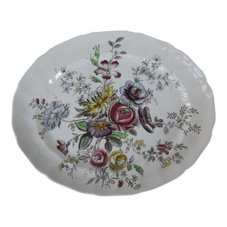 English Flower Serving Platter