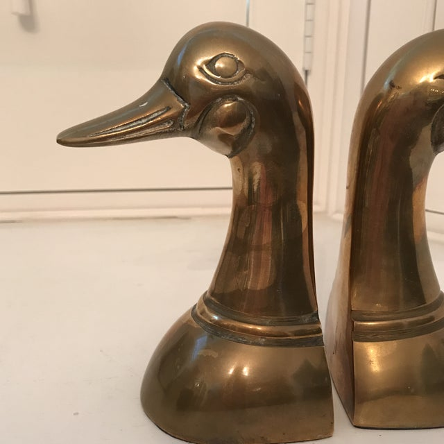 Danish Modern 1960s Danish Modern Brass Duck Bookends - a Pair For Sale - Image 3 of 8