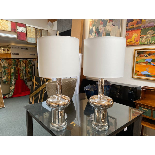 New Cyan Design Moonraker Nickel Table Lamp - a Pair For Sale - Image 9 of 9