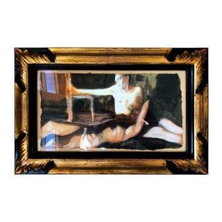 "1994 Ramon Lombarte Original Female Nude ""Apoyados"" For Sale"