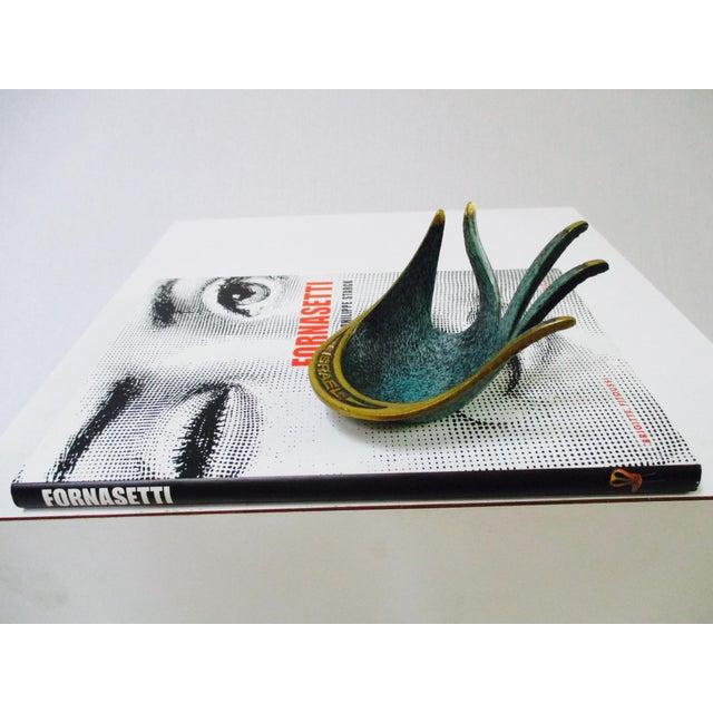 Modernist Brass Hand Sculptural Form Dish - Image 8 of 9
