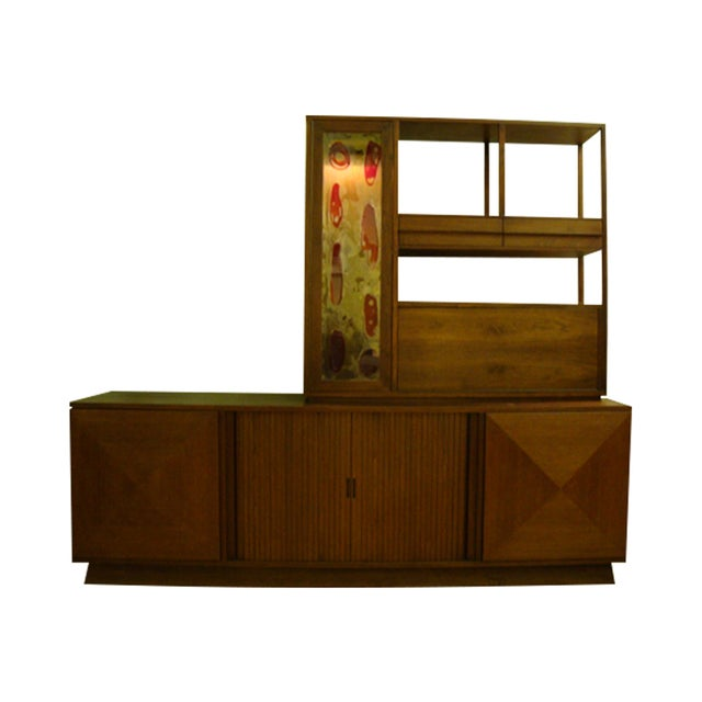MCM Buffet & China Top With Drop Down Bar - Image 1 of 10