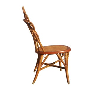 An Antique Heywood Brother Rattan / Wicker Single Side / Vanity Chair Preview
