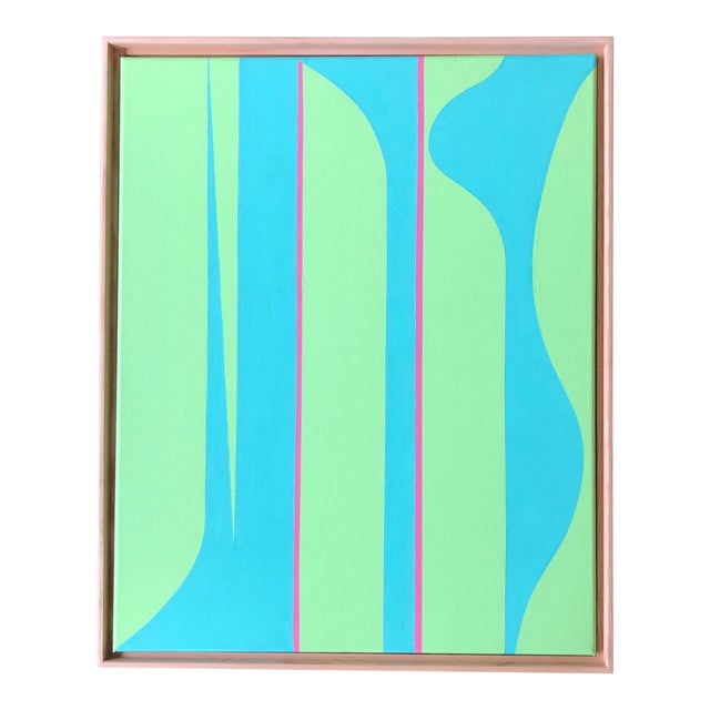 """Abstract """"Modern Lilly"""" Original Painting by Tony Curry For Sale - Image 3 of 3"""