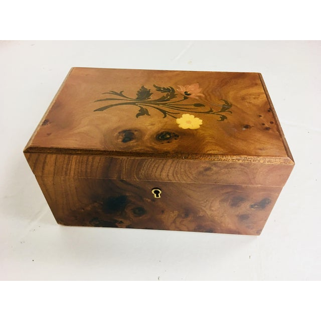 Inlaid Walnut Dresser Box For Sale - Image 10 of 10