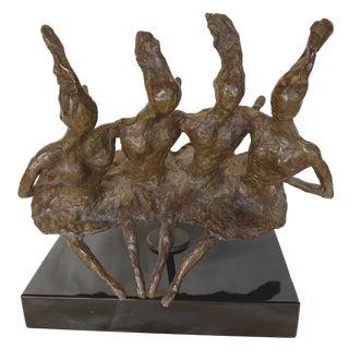 Don Wilks Ballerinas Bronze Sculpture For Sale