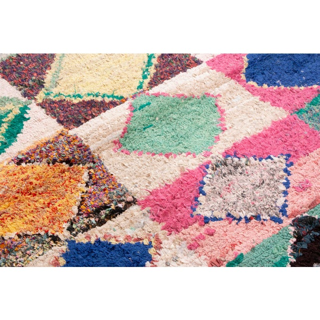 2010s Contemporary Moroccan Geometric Diamond Rug - 4′7″ × 4′8″ For Sale - Image 5 of 6