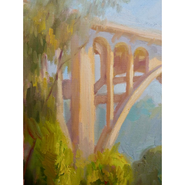 "Arthur Bjorn Egeli ""Colorado Street Bridge"" Signed Oil Painting For Sale In Los Angeles - Image 6 of 8"