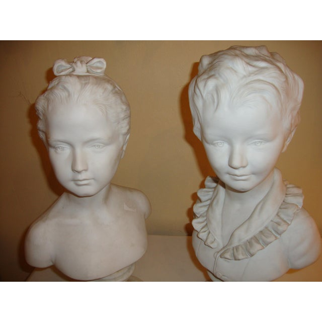 Brother and Sister Parian Busts- A Pair - Image 7 of 8
