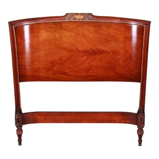 Carved Mahogany Twin Headboard by Irwin, Circa 1940s For Sale