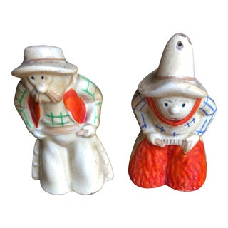 Vintage Cowboy Salt & Pepper Shakers - A Pair