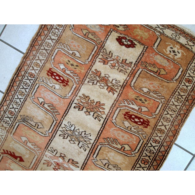 "1940s Vintage Turkish Oushak Handmade Runner - 2'5"" x 8' For Sale - Image 9 of 10"
