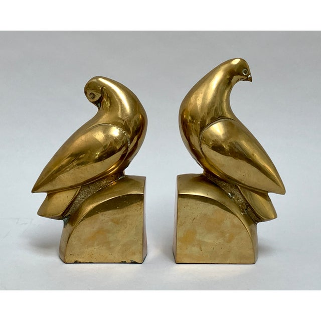 Brass Dove Bookends – a Pair For Sale - Image 13 of 13