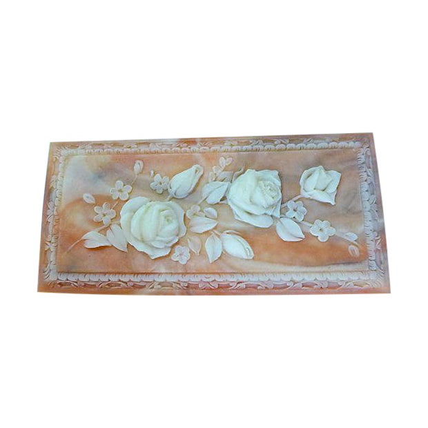 Vintage Floral Cameo Pink Jewelry Box - Image 1 of 6